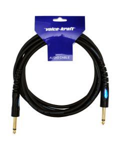 Voice-Kraft - HPC-002-3M 6,3 Jack - 6,3 Jack moulded cable, 3m