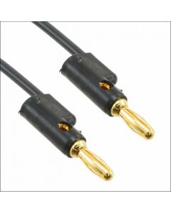 Banana Cable -  60.9 cm Black Premium Gold for Buchla